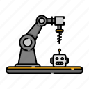 industrial, machine, robot, device, robotic, innovation, technology icon