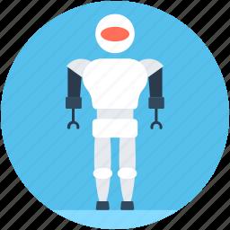 character robot, humanoid robot, monitor robot, robot monster, robotic technology icon