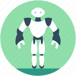advanced technology, cyborg, monitor robot, robotic technology, spherical robot icon