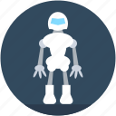 advanced technology, character robot, cyborg, robot monster, technology icon