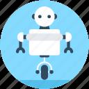 character robot, robotics, technology, cyborg, advanced technology icon