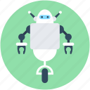 character robot, electronic robot, humanoid, nao robot, robot machinery icon