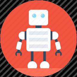 advanced technology, character robot, cyborg, robotics, technology icon