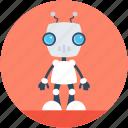 bender robot, cyborg, bionic robot, spherical robot, advanced technology icon
