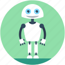 advanced technology, character robot, humanoid robot, robotics, technology icon