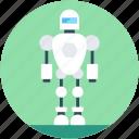 character robot, robotics, technology, humanoid robot, advanced technology icon