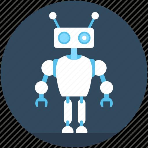 Character robot, robotics, technology, cyborg, advanced technology icon - Download
