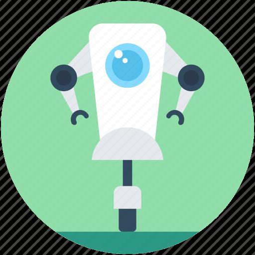 bionic robot, character robot, cyborg, robot machine, technology icon