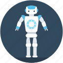 character robot, humanoid robot, monitor robot, robot monster, robotic technology icon