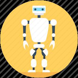costume robot, humanoid robot, military robot, rolling robots, walk robot icon