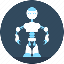 advanced technology, character robot, cyborg, robotics, technology icon