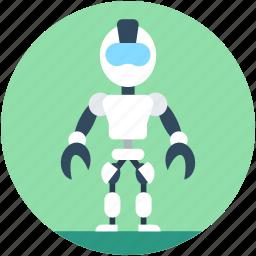 advanced technology, bender robot, bionic robot, cyborg, spherical robot icon