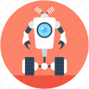 bionic robot, character robot, cyborg, robot machine, technology icon