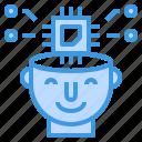 artificial, engineering, intelligence, machine, robotics icon