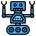artificial, engineering, intelligence, machine, robot icon