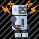 broken, malfunction, robot, technology icon