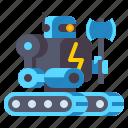 fighter, machine, robot icon