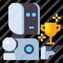 contest, machine, robot, winner