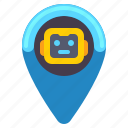 location, robot, zone icon