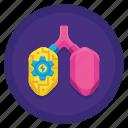bionic, lungs, machine, robot icon