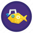cooking, fish, food, robot icon
