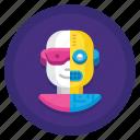half, human, person, robot icon