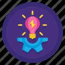 bulb, intelligence, light, quotient icon