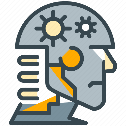 artificial, brain, education, intelligiance, knowledge, mind, robot icon