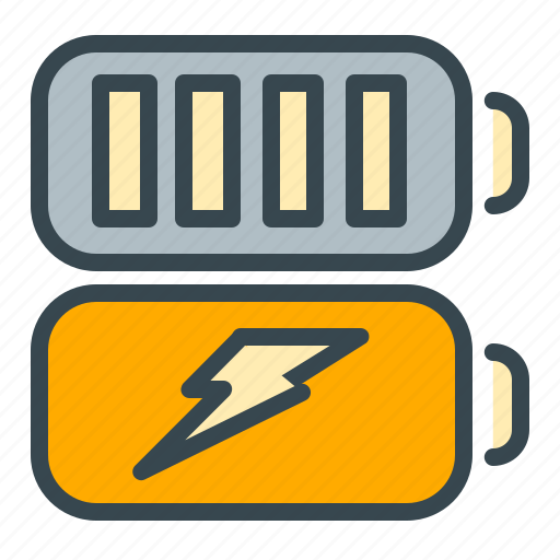 batteries, battery, charging, rechargeable, robotics, technology icon