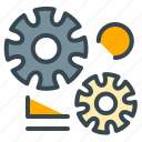 bolts, functions, preferences, robotics, settings, technology icon
