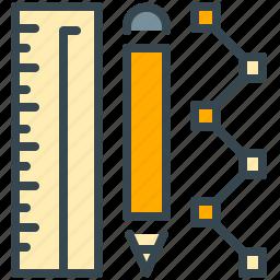 design, graphic, pencil, ruler, tool, tools icon