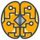 brain, device, electronic, health, intelligence, technology icon