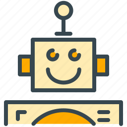 cyborg, friendly, machine, robot, robotics, technology icon