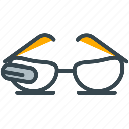 futuristic, glasses, spectacles, sunglasses, view icon