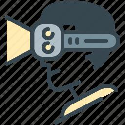 avatar, face, glasses, man, robotics, spectables icon
