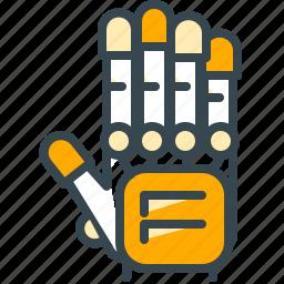 electricity, energy, glove, robotics, technology icon