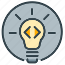 bulb, idea, light, lightbulb, pointer, robotics icon
