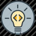 idea, bulb, light, lightbulb, pointer, robotics