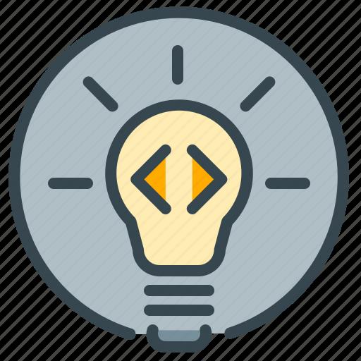 bulb, idea, light, lightbulb, pointer, robotics icon