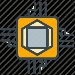 chip, computer, microchip, microprocessor, processor, technology icon