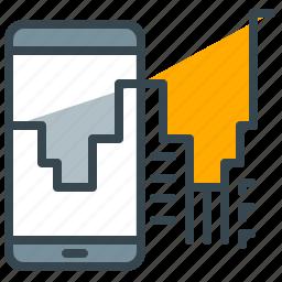communication, device, mobile, phone, robotics, technology icon