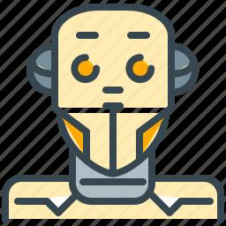 android, cyborg, machine, robot, robotics, technology icon