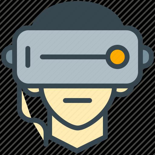 avatar, face, glasses, robotics, technology icon