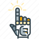 robotics, touch, click, finger, gesture, hand