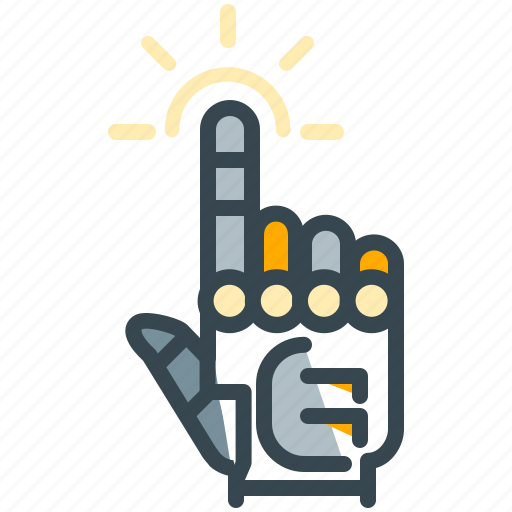 click, finger, gesture, hand, robotics, touch icon