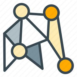connection, internet, network, robotics, technology icon