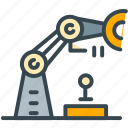 construction, engineering, equipment, robotics, technology, tool icon