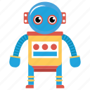 artificial person, bionic person, mechanical person, robot, robot technology icon