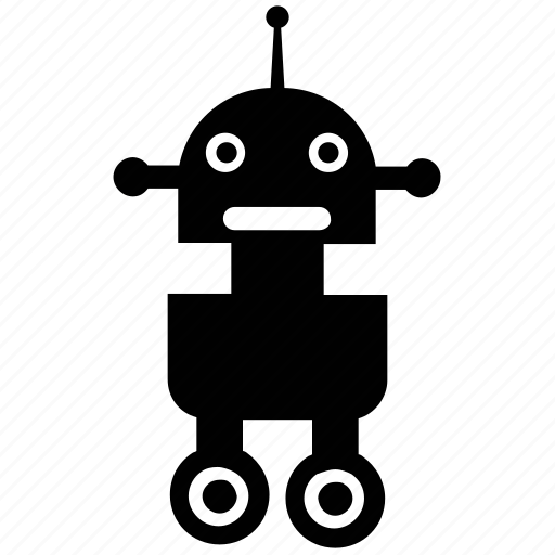 character robot, futuristic robot, scout robot, spy robot, technology icon