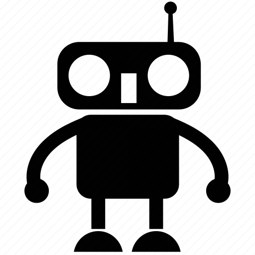 bionic robot, character robot, cyborg, monitor robot, technology icon